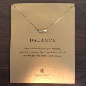 "Dogeared Gold ""Balance"" Necklace"